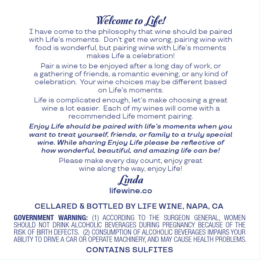 Enjoy Life Back label